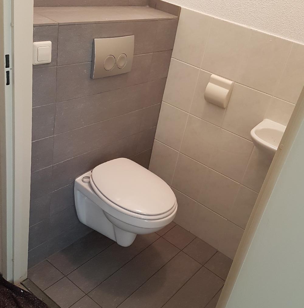 Toilet ophangen Leidsche Rijn